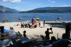 Shuswap Lake Beach at Club Rob!