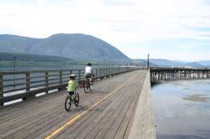 Downtown Salmon Arm Wharf
