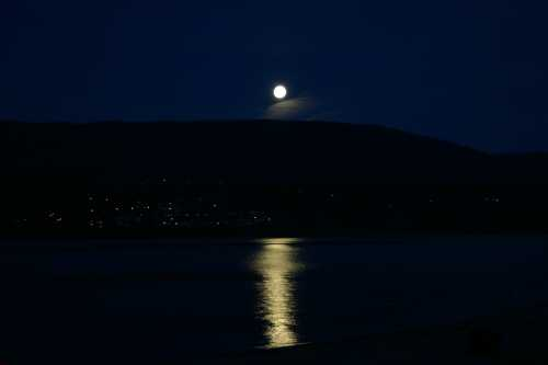 Moonlight Over Salmon Arm